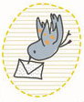 Cute birdy sticker